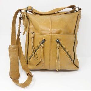 The Sak Leather Yellow Crossbody Bag